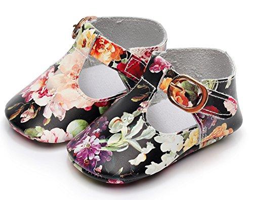Bebila T-Strap Baby Boys Shoes Soft Mary Jane Shoes Sandals for Toddler Girls (13cm(12-18months), (Metal Kids Sandals)