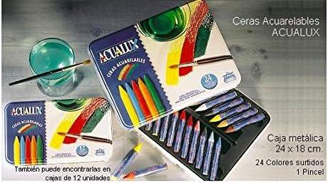 Ceras acuarelables Acualux 24 colores: Amazon.es: Bricolaje y herramientas
