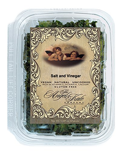 SALT AND VINEGAR Angel Kale Chips World's Largest Selection of Flavors 41 Vegan, Gluten Free, Natural, Healthy, Superfood