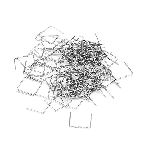 Keenso 100pcs 0.8mm Hot Staples Welding Staples, Car Auto Bumper Repair Pre Cut Bodywork Plastic Welding Staples Repair Tool Kit 3 Types Available(
