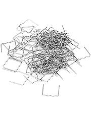 Keenso 100 stks 0.8mm Hot Nietjes Lassen Nietjes, Auto Bumper Reparatie Pre Cut Carrosserie Plastic Lassen Nietjes Reparatie Tool Kit 3 Soorten Beschikbaar (S Stijl 100 stks)