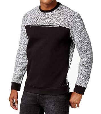 Calvin Klein Mens Medium Slim Crewneck Colorblock Sweater