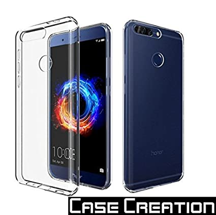 huge selection of 2f2c9 4a951 Case Creation Honor 8 Pro Back Cover,Crystal Clear Silicone Transparent  Flexible Soft TPU Slim Back Case for Huawei Honor 8 Pro