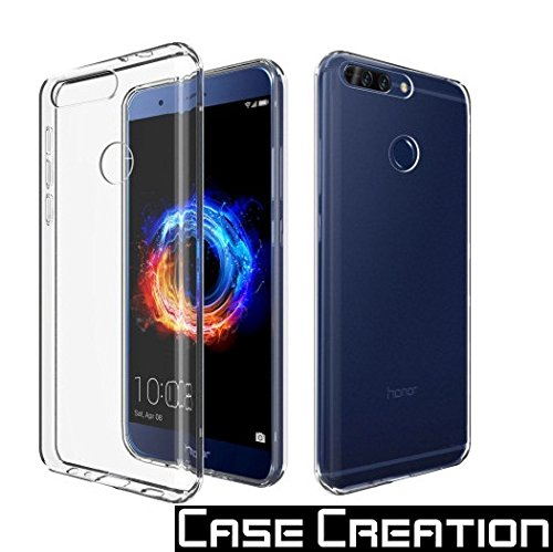 huge selection of 0560f 1cd91 Case Creation Honor 8 Pro Back Cover,Crystal Clear Silicone Transparent  Flexible Soft TPU Slim Back Case for Huawei Honor 8 Pro