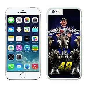 NEW DIY Unique Designed Case For iphone 6 plus Jimmie Johnson iphone 6 plus White 5.5 TPU inch Phone Case 211