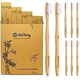 MitButy Bamboo Toothbrush [8-Pack] Soft BPA Free Nylon Bristles & Individually Numbered Natural Manual Toothbrushes