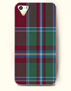 Classic Red Grey Green Checks-- OOFIT Hard Back Case for Apple iPhone 5 / 5S