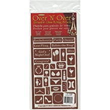 """Armour Products 21-1648 Products Over N Over Glass Etching Stencil, 5"""" x 8"""", Bachelorette Party"""