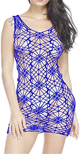 cinnamou Sexy Netz-Netzkleid für Damen, Erotisches Babydoll, durchsichtig, Nachtwäsche, Spitze, Unterwäsche Damen-Nachtwäsche