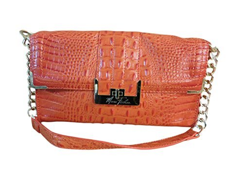 Marc Fisher Orange Croco Clutch
