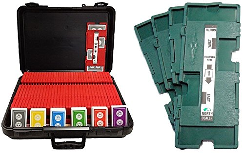 36 Imperial-Plus Duplicate Boards (Green), 36 Decks ACBL Cards & Carrying Case