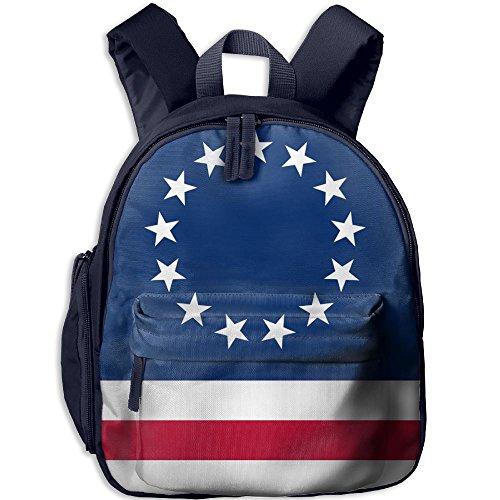 Nollm US Flag 13 Stars 鈥?Betsy Ross.svg Kid And Toddler Student Backpack School Bag Super Bookbag