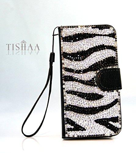 samsung-galaxy-s6-quality-luxury-zebra-flip-kickstand-case-tishaa-gorgeous-bling-bling-zebra-deluxe-