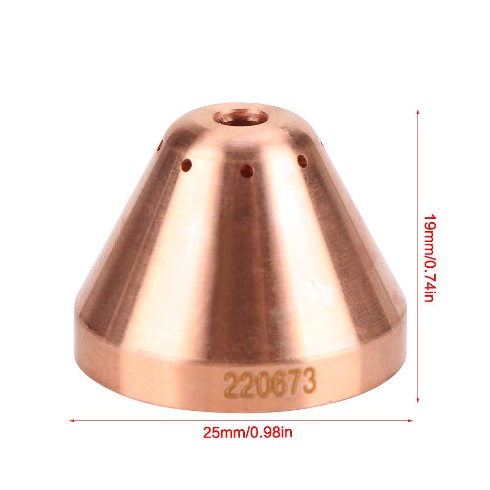 5 St/ück Plasma Schutzkappe Verbrauchsmaterial 220673 Plasma Shield Cap Fit MAX45 Plasmaschneidbrenner