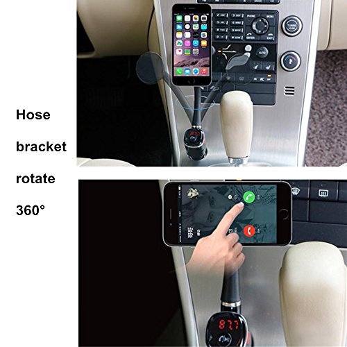 Bluetooth FM Transmitter Leagway In Car FM Transmitter Radio Adapter With Dual USB Car Charger MP3 Player U Disk Port 360Rotating Car Phone Holder For IPhone 8 X 7 6 6S Plus Samsung S5S6S7S8