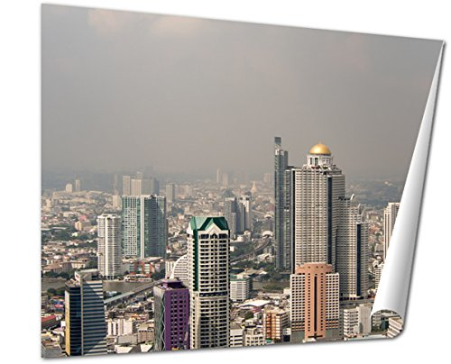 Ashley Giclee Fine Art Print  Birds Eye View Of Bangkok City Top View Bangkok City Building In Bangkok City  16X20  Ag5874247