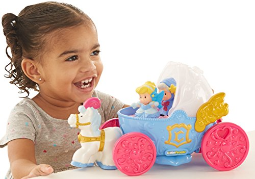 Fisher-Price Little People Disney Princess, Cinderella's (Disney Cinderella Coach)