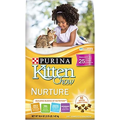 Cat Food Purina Kitten Chow Dry Kitten Food, Nurture, 3.15 Pound Bag [tag]