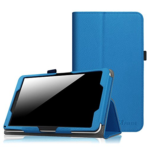 Fintie Case for 2016 NuVision TM800W560L/2017 NuVision TM800P610L/Solo 8 TM800W610L/TM800W630L 8-Inch Windows Tablet - Premium PU Leather Folio Cover with Stylus Holder, Royal Blue