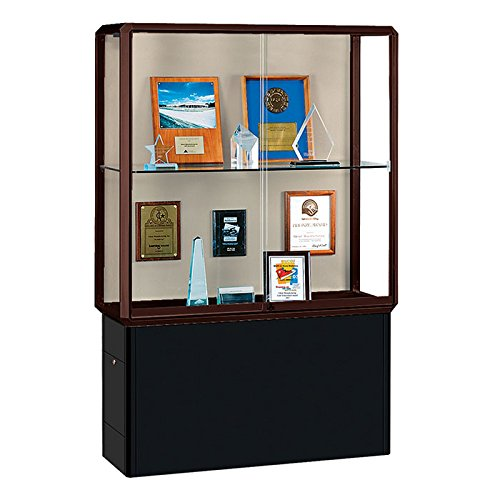 Prominence Spotlight Series Tower Display Case Frame Finish: Dark Bronze, Lighting: Built-In Lighting by Waddell