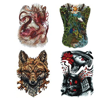 Temporary Tattoos - 4pcs Temporary Tattoo Sticker Stickers Waterproof Body - Harry Your Own Costume Potter Make