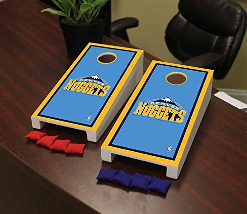 Victory Tailgate Denver Den Nuggets NBA Basketball Desktop Cornhole Game Set Border Version by Victory Tailgate