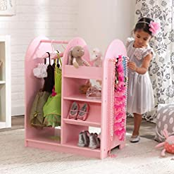 KidKraft-Wooden-Fashion-Pretend-Dress-Up-Station-Childrens-Furniture-with-Storage-and-Mirror-Pink-266-x-158-x-394