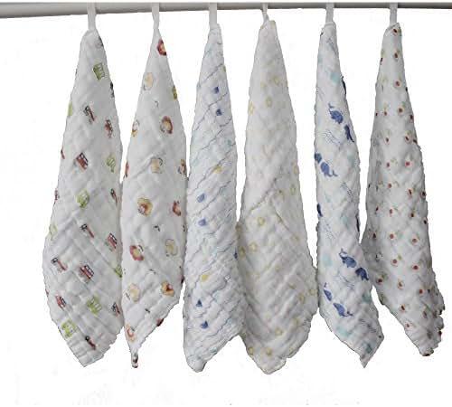 Lucear Baby Towels Bath Washcloth (6-Pack), 12