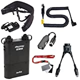 Fomito Godox PB960 Portable Extended Flash Power Battery Pack Kit Dual Output for Canon 600EX, 580EX II, 580EX, 550EX, 540EZ, 430EZ, for Yongnuo Flashes,for AD600 AD360 II AD180 TT685C/N/S, for Mobile phone Black