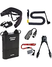 Fomito Godox PB960 Portable Extended Flash Power Battery Pack Kit Dual Output for Canon 600EX, 580EX II, 580EX, 550EX, 430EZ, for Yongnuo Flash,for AD600 AD360II TT685C/N/S, for Mobile Phone, Black