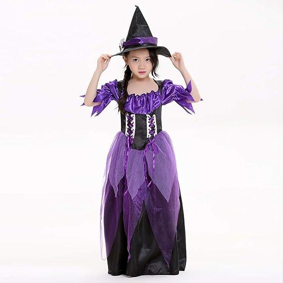 LBHHH Disfraz de Bruja púrpura de Halloween, Disfraz de Padre e ...