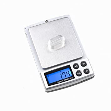 BASCULA DIGITAL DE PRECISION 0,01g PESA 200g BALANZA ELECTRONICA bolsillo - JOYERÍA scale 200g x 0.01g Mini Digital Jewelry Pocket GRAM Scale LCD: ...