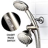 HotelSpa 42-Setting Ultra-Luxury 3 Way Shower-Head/Handheld...