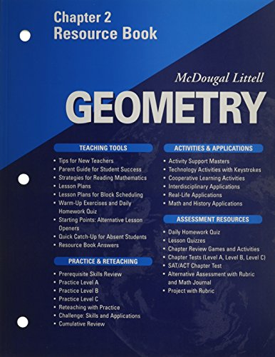 McDougal Littell - Geometry - Chapter 2 Resource Book