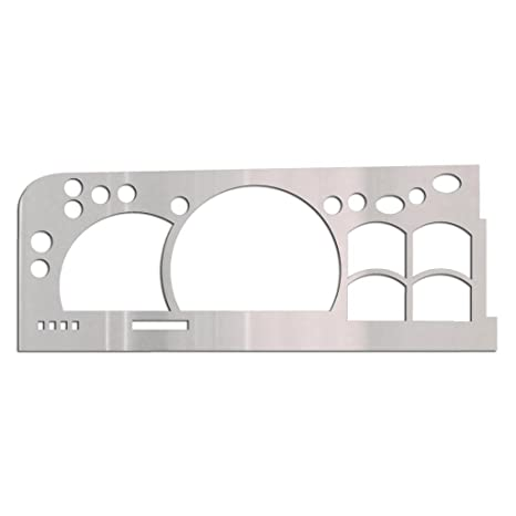 Ferreus Industries Brushed Stainless Gauge Cluster Dash Bezel Trim fits:  1995-2000 Chevy C/K 1500 2500 3500 BZL-153-Brushed-01
