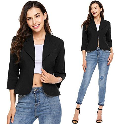 ODlover-Womens-Business-Slim-Fit-34-Sleeve-Work-Office-Open-Front-Cardigan-Jacket-Blazer