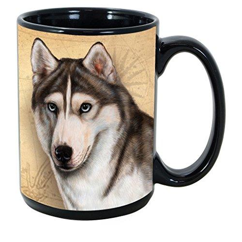 Breed Coffee Mug - Imprints Plus Dog Breeds (R-Z) Siberian Husky 15-oz Coffee Mug Bundle with Non-Negotiable K-Nine Cash (siberian husky 170)