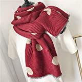 Burgundy Women's Warm Winter Cotton Linen Wrinkle Scarf Wraps Shawl 200Cm65Cm
