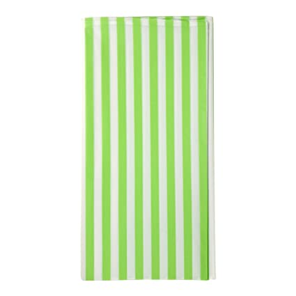JINSEY Pack Of 3 Plastic Green And White Striped Print Tablecloths   3 Pack    Party