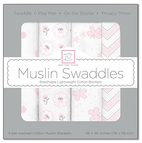 swaddledesigns-cotton-muslin-swaddle-blankets-set-of-4-pastel-pink-butterfly-fun