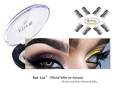 Best Cheap Deal for Professional 3D Reusable Dual Magnetic Fake Eyelashes 2 pairs (8 pieces) by AsaVea - Free 2 Day Shipping Available