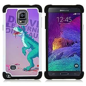 """Pulsar ( Dinosaurio Música Amor Guitarra Heavy Metal"""" ) Samsung Galaxy Note 4 IV / SM-N910 SM-N910 híbrida Heavy Duty Impact pesado deber de protección a los choques caso Carcasa de parachoques"""