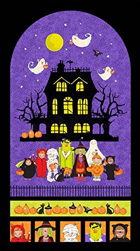 Happy Halloween Panel from Northcott's Happy Halloween Collection - 24