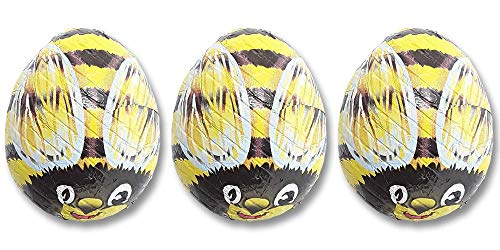 Madelaine Solid Premium Milk Chocolate Bumble Bees - Yellow Candy Party Favors (Yellow & Black) (1/2 -