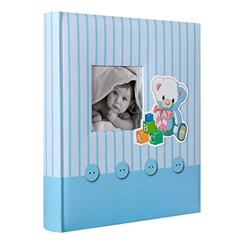 Album Photo traditionnel de Naissance Mé mories Bleu 60 pages blanches - LCD