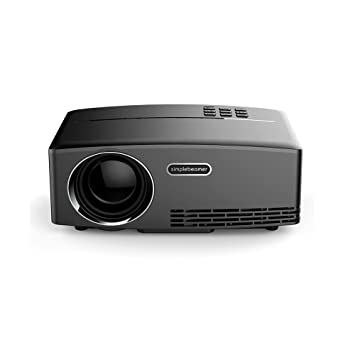 Mileagea Mini proyector 1800 Lumens LED proyector con Cable HDMI ...