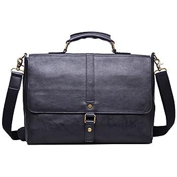 Image of Briefcases ALTOSY Genuine Leather Briefcase Laptop Messenger Satchel Shoulder Bag (8127, Black)
