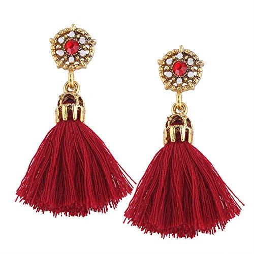 Jewel-encrusted Women Earrings Fashion Rhinestone Long Dangle Tassel Ear Drop
