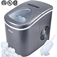 Della  Premium Ice Maker Portable Counter-Top, Daily Ice Making Capacity: 26 LBS (Silver)