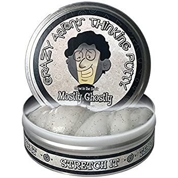 Crazy Aaron's Thinking Putty, 3.2 Ounce, Glow in the Dark Mostly Ghostly